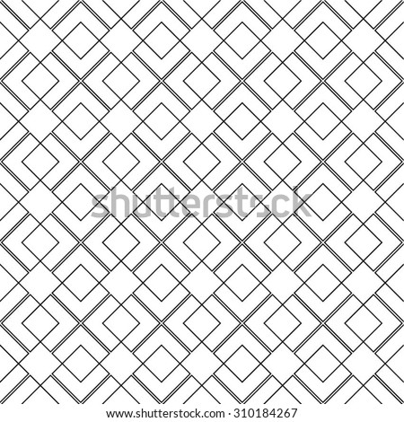 A geometric linear pattern, square, rhombus, seamless vector background. - stock vector