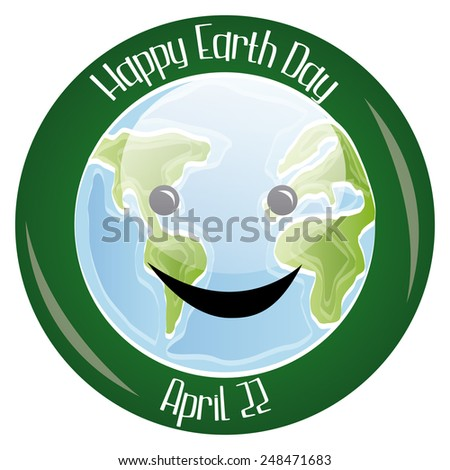 a green label with text and our planet for earth day - stock vector