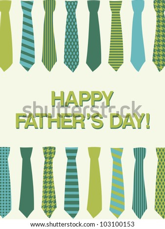 A greeting card template for father's day. - stock vector