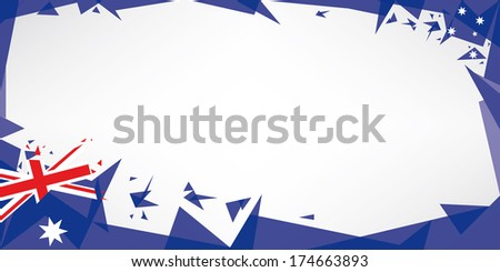 A greeting card with the theme of flag of australia - stock vector