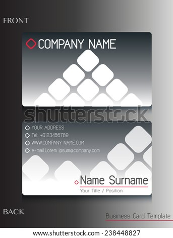 A grey colored business card template - stock vector