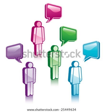 A group of people having a discussion - stock vector