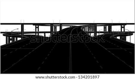 A Highway Interchange 02 - stock vector