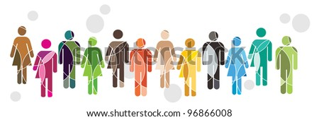 A human diversity concept illustration - stock vector