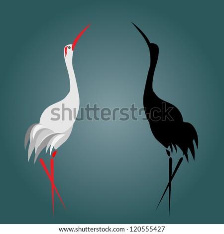 A illustration of a flamingo - stock vector