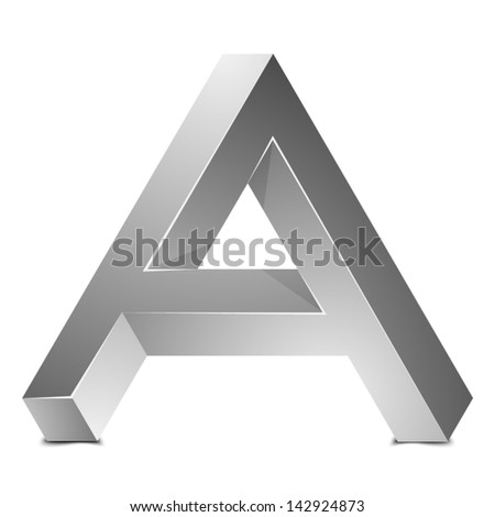 A impossible sign - stock vector
