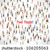a large group of people meeting together vector icon design - stock vector