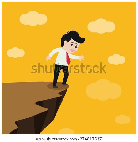 A leap of faith - stock vector