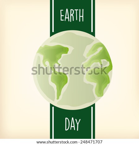 a light yellow background with text and our planet for earth day - stock vector