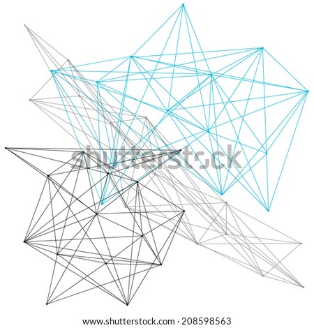 A linear geometric pattern background or design element - stock vector