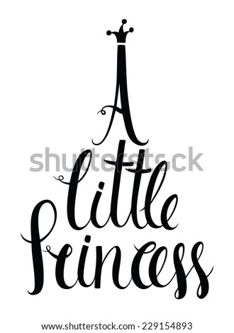 A little princess lettering - stock vector