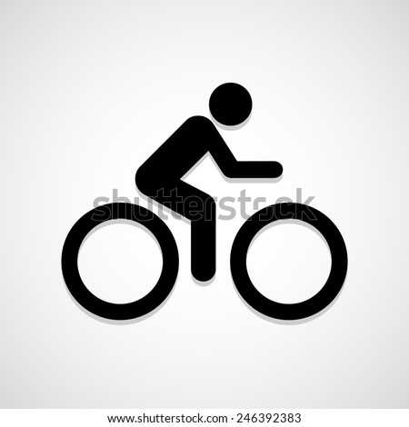 A man Bike icon great for any use. Vector EPS10. - stock vector