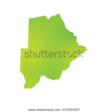 A Map of the country of Botswana - stock vector