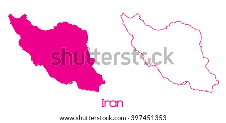 A Map of the country of Iran - stock vector