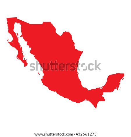A Map of the country of Mexico - stock vector