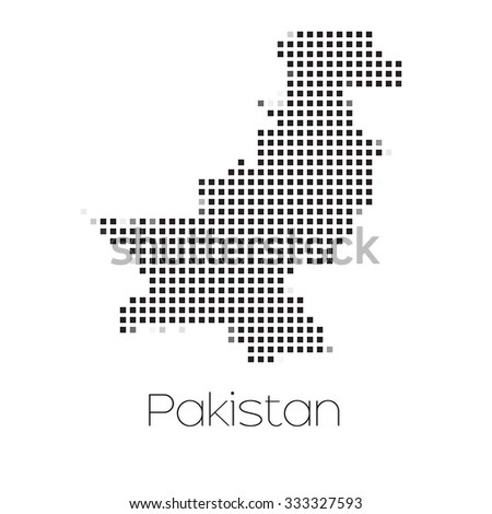 A Map of the country of Pakistan - stock vector