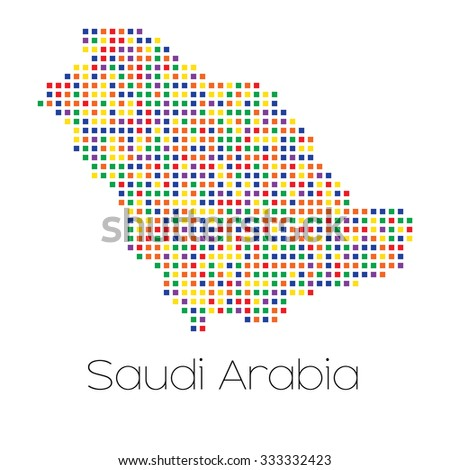 A Map of the country of Saudi Arabia - stock vector