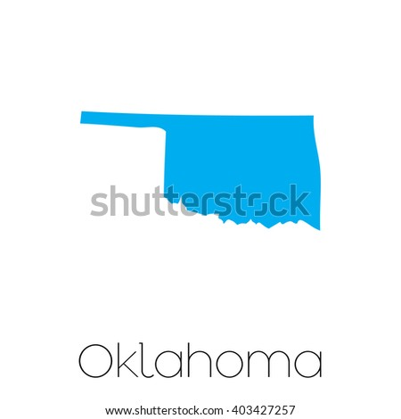 A Map of the the state Oklahoma - stock vector