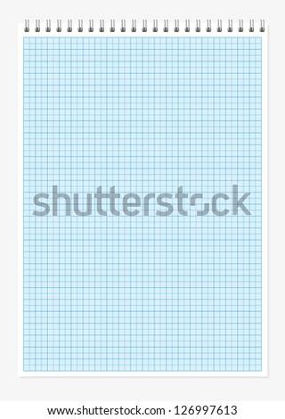 A4 millimeter notebook sheet vector background - stock vector
