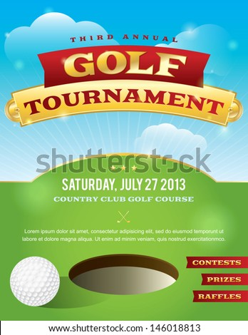 Free Golf Outing Flyer Template A Nice Design For