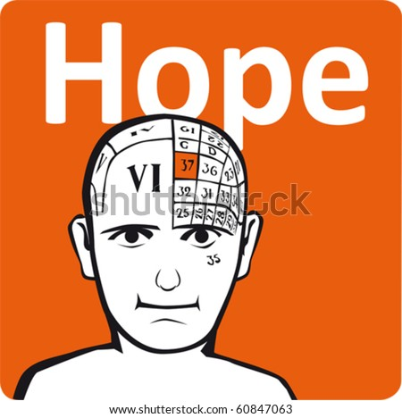 A psychology model - the hope section of the brain - stock vector