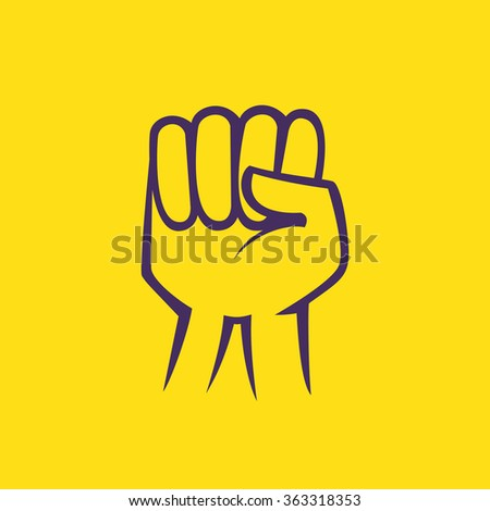 A raised fist. Vector elements for your application or corporate identity design. - stock vector