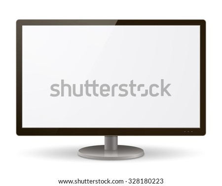 A realistic LCD / LED monitor vector illustration. - stock vector