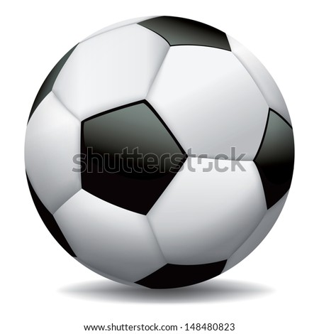 A realistic vector soccer ball. EPS 10. File contains transparencies and gradient mesh. - stock vector