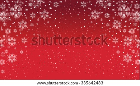 a red and white snowflake background - stock vector
