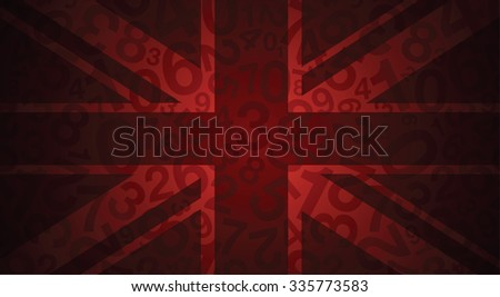 a red uk flag image - stock vector