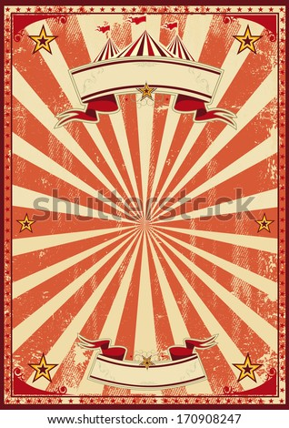 A red vintage circus background for a poster - stock vector
