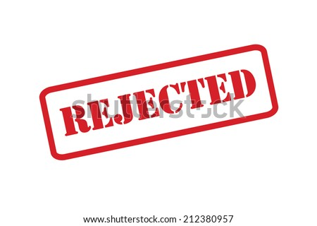 A Reject stamp vector over a white background. - stock vector