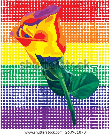 A rose and stripes halftone with different colors. An abstract grunge background with halftone effect. vector (new style out of the ordinary geometric effect halftone). - stock vector