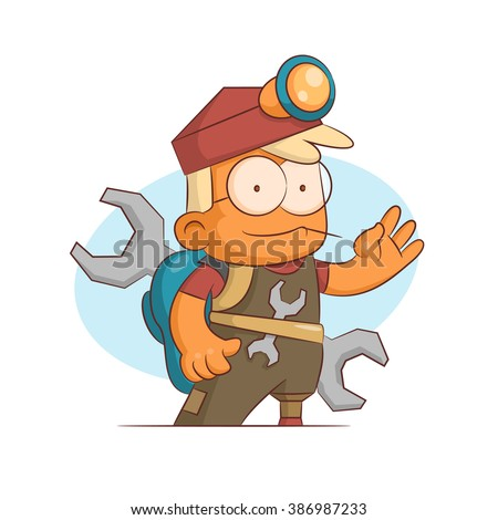 A series of characters on the theme of role-playing games. Vector illustration.Ingeneer - stock vector