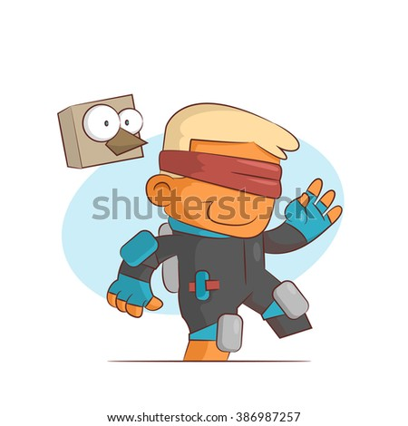 A series of characters on the theme of role-playing games. Vector illustration.Jumper - stock vector