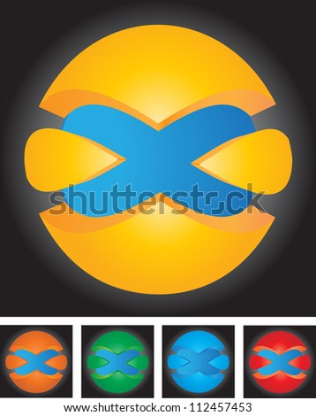 A set of abstract Global icon. Vector illustration. - stock vector