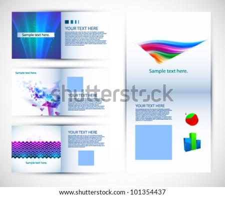 A set of brochure design - stock vector