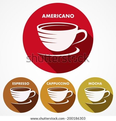 A set of coffee icons. - stock vector