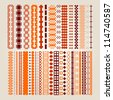 A set of colored borders - stock vector