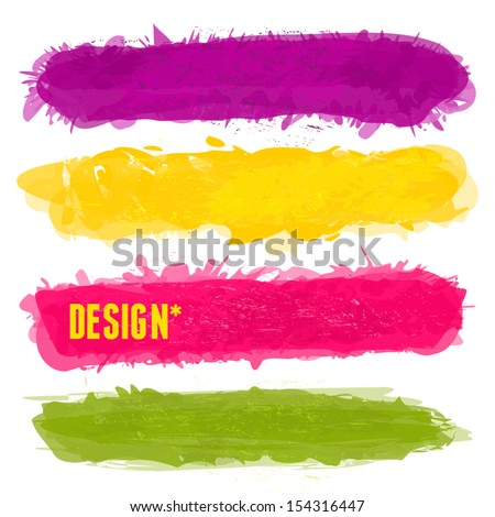 A set of colorful banners with copy-space isolated on white. EPS10 file. - stock vector