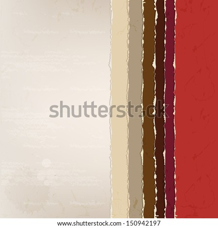 A set of colorful old paper. Background with old paper. Place for your text - stock vector