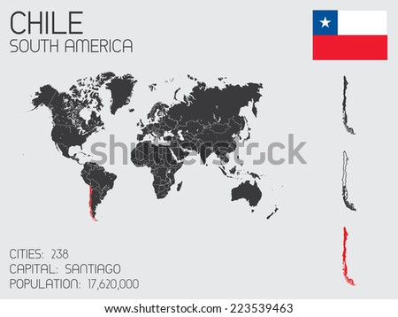 A Set of Infographic Elements for the Country of Chile - stock vector