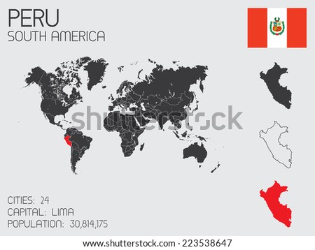 A Set of Infographic Elements for the Country of Peru - stock vector