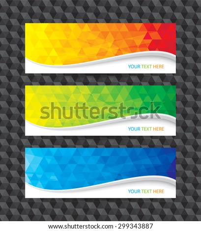 A set of modern geometric background banner.  - stock vector