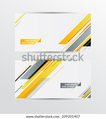 A set of modern vector banners with geometric pattern - stock vector