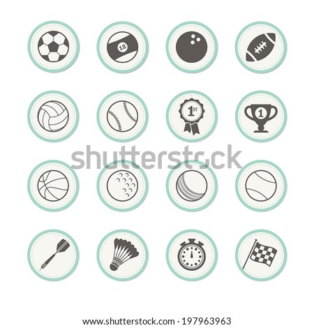 A set of sports icons  - stock vector