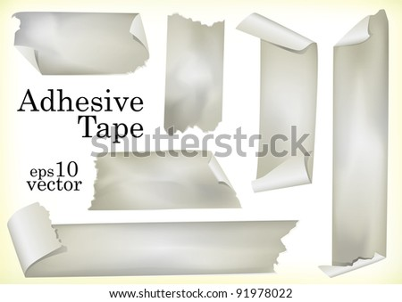 A Set of Vector Illustrations of Adhesive Tapes - stock vector