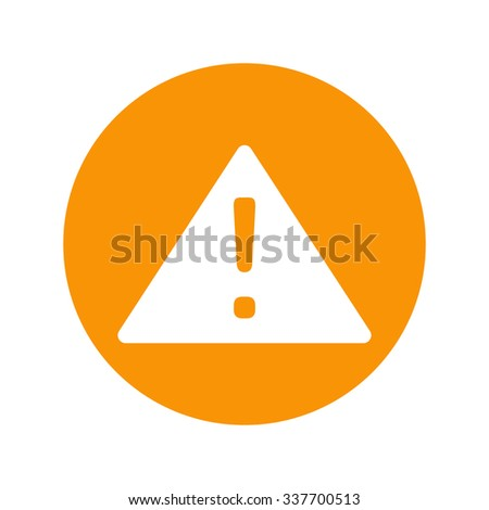 a sign of attention. vector illustration - stock vector