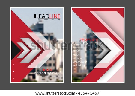 A4 size, abstract flat layout futuristic arrow elements marketing business corporate design template. eps10 vector - stock vector
