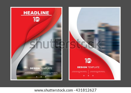 A4 size, abstract flat layout wave elements marketing business corporate design template. eps10 vector - stock vector